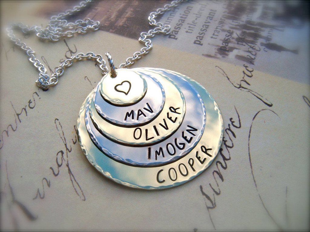 or gift jewelry disc necklace il customized mothers date name for pendant mom personalized listing fullxfull